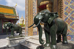 Marble statues of elephants Royalty Free Stock Photos