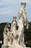Marble statues. Statues in the Stadium of the Marbles in Rome, Italy Stock Photo
