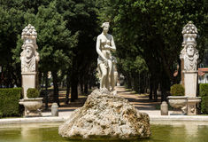 Marble statues in Villa Borghese, public park in Rome Stock Photography