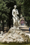 Marble statues in Villa Borghese, public park in Rome. Stock Photography