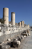 Marble steet, Ephesus, Izmir, Turkey. Colums of marble street in Ephesus Royalty Free Stock Image