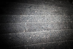 Marble steps going down to the corner. tinted Stock Photos