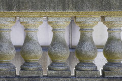Marble Stone Balustrade Closeup. Marble Stone Balustrade with Balusters Handrails and Base Closeup Stock Photo