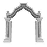 Marble stone baroque entrance gate frame vector Royalty Free Stock Image