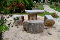 Marble stone furniture Stock Image