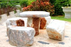 Marble stone furniture Stock Photography