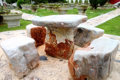 Marble stone furniture Royalty Free Stock Image