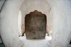 Marble stone slabs of Buddhist cannon ( Tripitaka texts ). Royalty Free Stock Photography