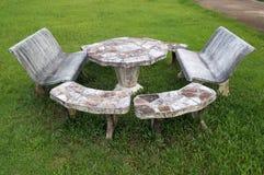 Marble stool set Stock Photos