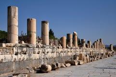 The Marble Street, Ephesus, Turkey Stock Images