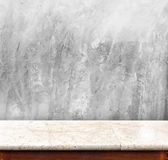 Marble table with Concrete wall ,empty interior for display your Royalty Free Stock Image