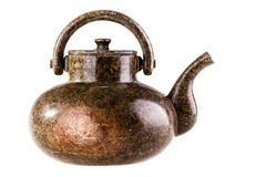 Marble teapot Stock Images