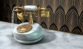 Marble Telephone And Art Deco Scene Royalty Free Stock Photo