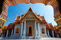 Marble temple in Bangkok. Thaïland. traditional name is Wat benchamabophit Stock Photos