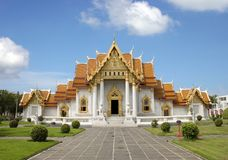 Marble Temple - Bangkok royalty free stock image