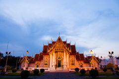 Marble temple Bangkok Royalty Free Stock Image