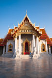Marble temple in Bangkok Royalty Free Stock Image