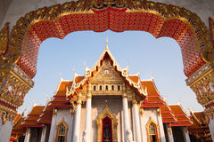 Marble temple in Bangkok Royalty Free Stock Photography