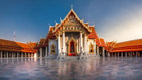 Marble temple in Bangkok Stock Images