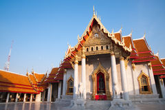 Marble temple in Bangkok Stock Photography