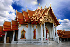 Marble Temple  Bangkok Thailand Royalty Free Stock Photo