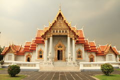 Marble temple ,Bangkok,Thailand Royalty Free Stock Photos