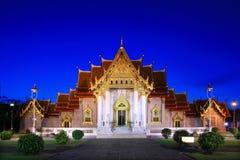 Marble Temple  Bangkok Thailand Royalty Free Stock Image