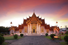 Marble Temple in Bangkok Thailand Stock Images