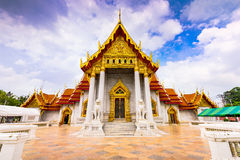 Marble Temple of Bangkok Royalty Free Stock Photography