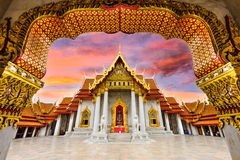 Marble Temple of Bangkok. Thailand Stock Photo