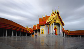 Marble Temple of Bangkok Royalty Free Stock Image