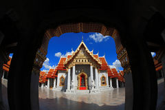 Marble Temple in Bangkok Thailand blue sky Royalty Free Stock Photo