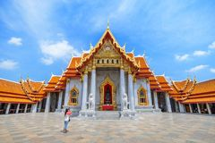 Marble Temple - Bangkok - Thailand Stock Photography