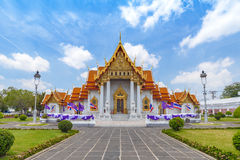 Marble Temple, Bangkok, Thailand Stock Photos