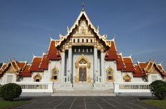 Marble Temple in Bangkok, Thailand Stock Photo