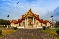 Marble Temple in Bangkok Thailand Royalty Free Stock Photography