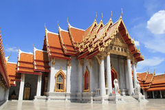 Marble temple in Bangkok Royalty Free Stock Photos