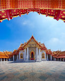The Marble Temple in Bankgok Thailand. Locally known as Wat Benc Stock Photography
