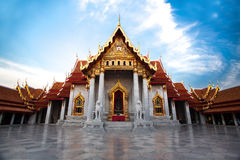 The Marble Temple with blue sky Royalty Free Stock Photo
