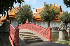 The Marble Temple bridge, Bangkok, Thailand Royalty Free Stock Photos