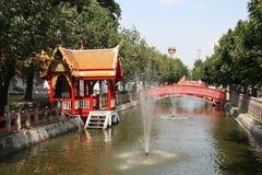 The Marble Temple garden, Bangkok, Thailand Stock Photos