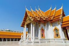 Marble temple is landmark of Bangkok, Thailand Stock Photography