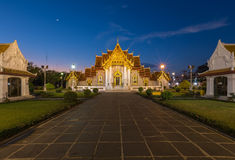 Marble Temple locate in central of Bangkok Thailand Stock Image