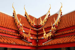 Marble temple roof Stock Photography