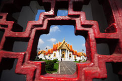 Marble Temple in Thailand Royalty Free Stock Image