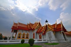 Marble Temple in Thailand Royalty Free Stock Photography