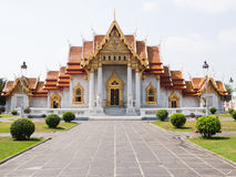 Marble Temple or Wat Benchamabophit Royalty Free Stock Photography