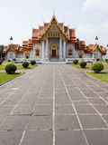 Marble Temple or Wat Benchamabophit Stock Photos