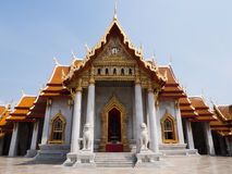 Marble Temple or Wat Benchamabophit Royalty Free Stock Photos