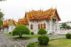 Marble Temple, Wat Benchamabophit, Bangkok, Thailand. Royalty Free Stock Photography